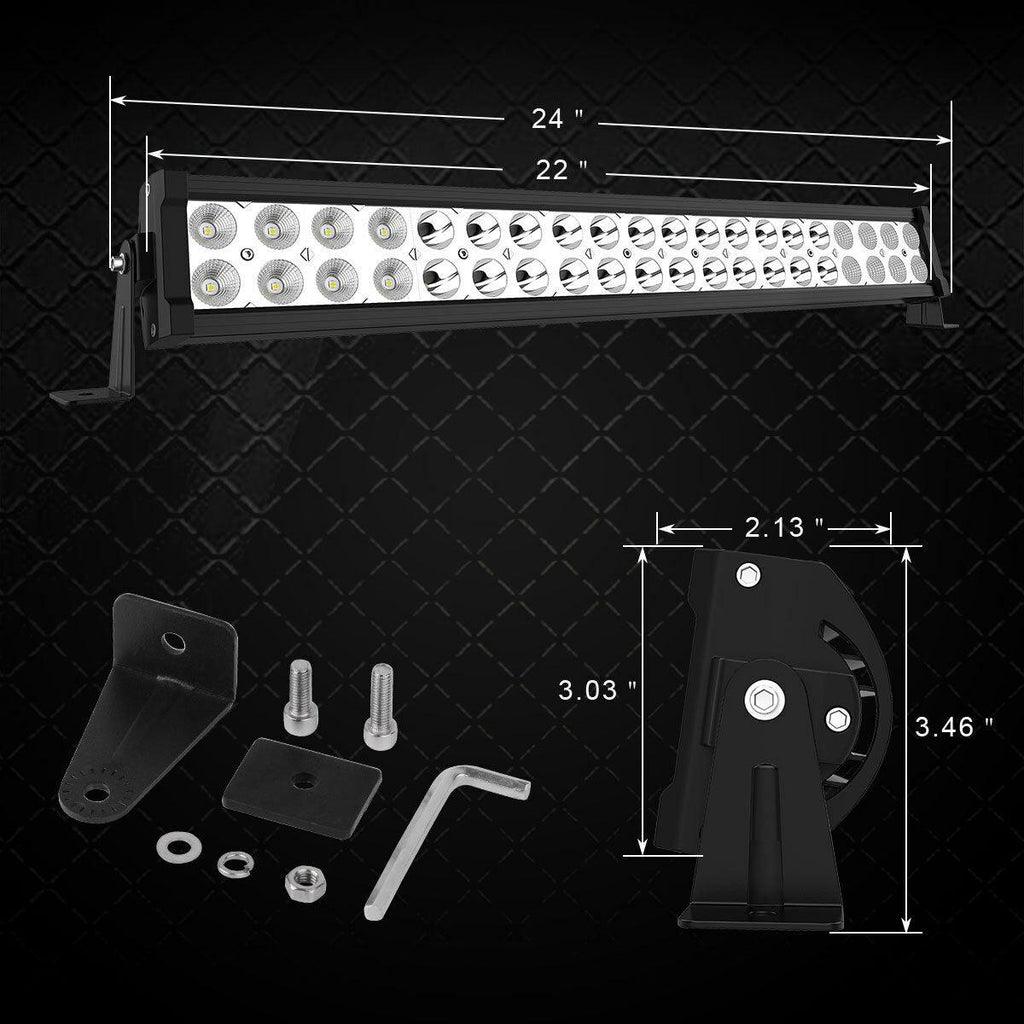 24 inch 120W Led Light Bar + Wiring Kit - YITAMotor