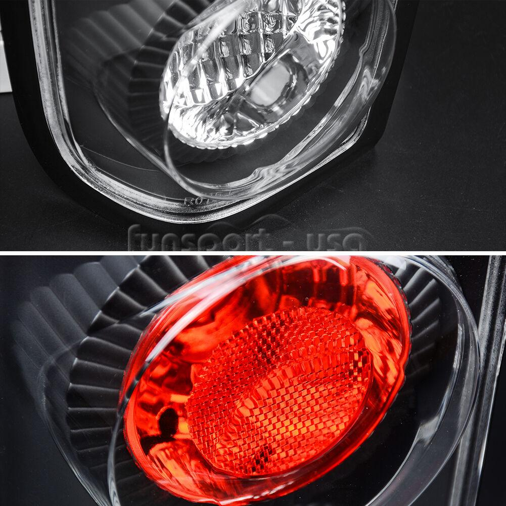 Tail Lamps for Nissan Frontier 1998 1999 2000 2001 2002 2003 2004 (Black Clear OE Replacement Rear Assembly) ATTL0212 - YITAMotor
