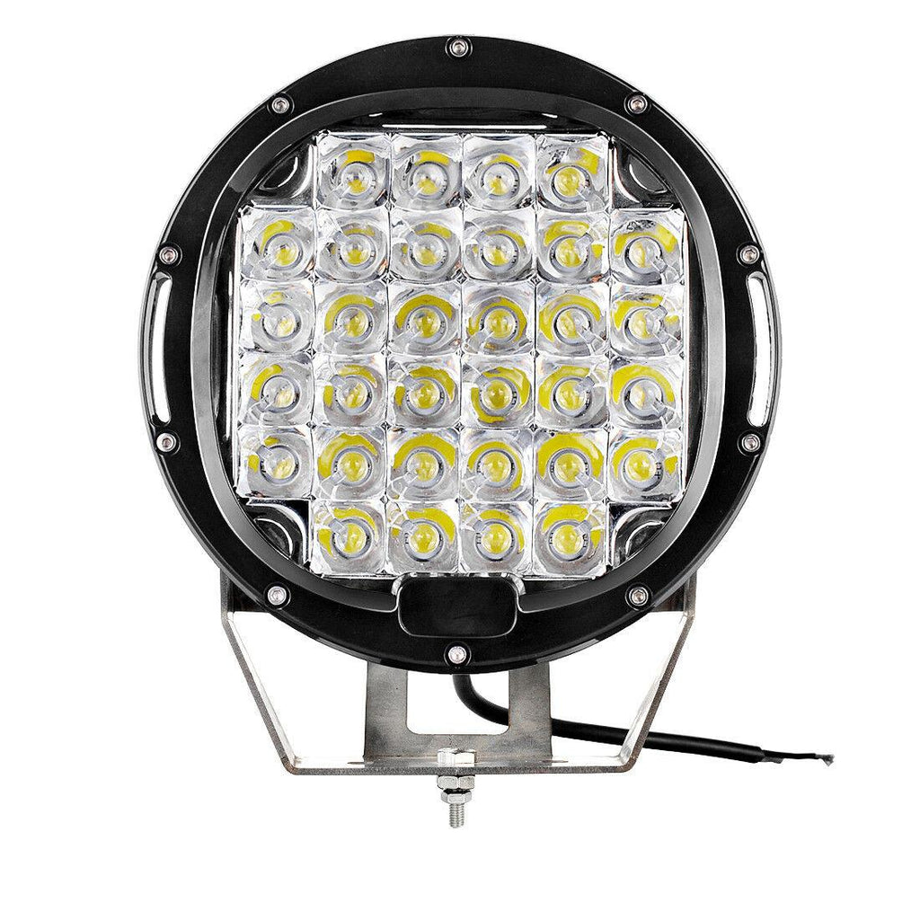 2x 9inch 225W Round LED Work Light Spot Driving Lamp Headlight offroad ATV Truck - YITAMotor