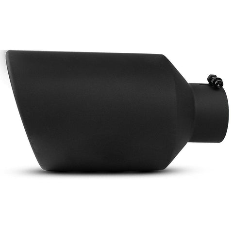 4'' inlet 8'' Outlet 15 inch Long Bolt On Diesel Exhaust Tip Black Stainless Steel - YITAMotor