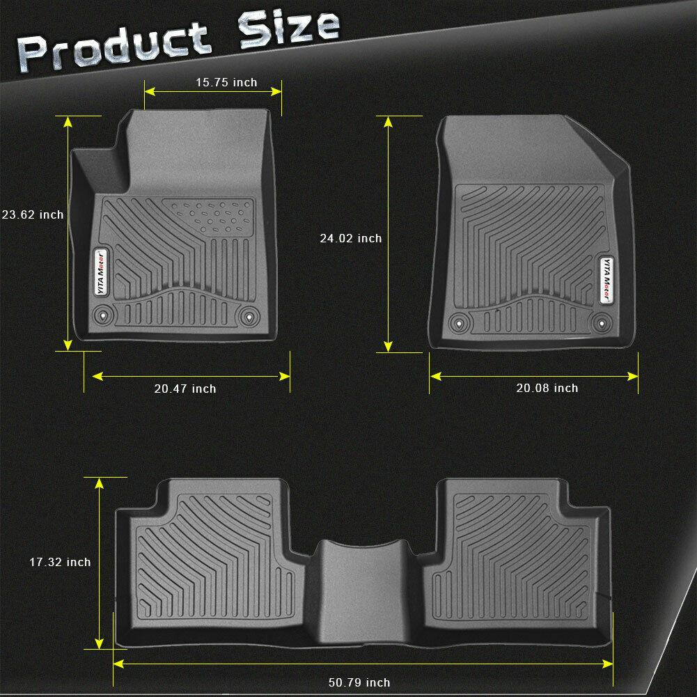 Floor Mats for 2015-2020 Jeep Cherokee All Weather Protection Floor Liners - YITAMotor