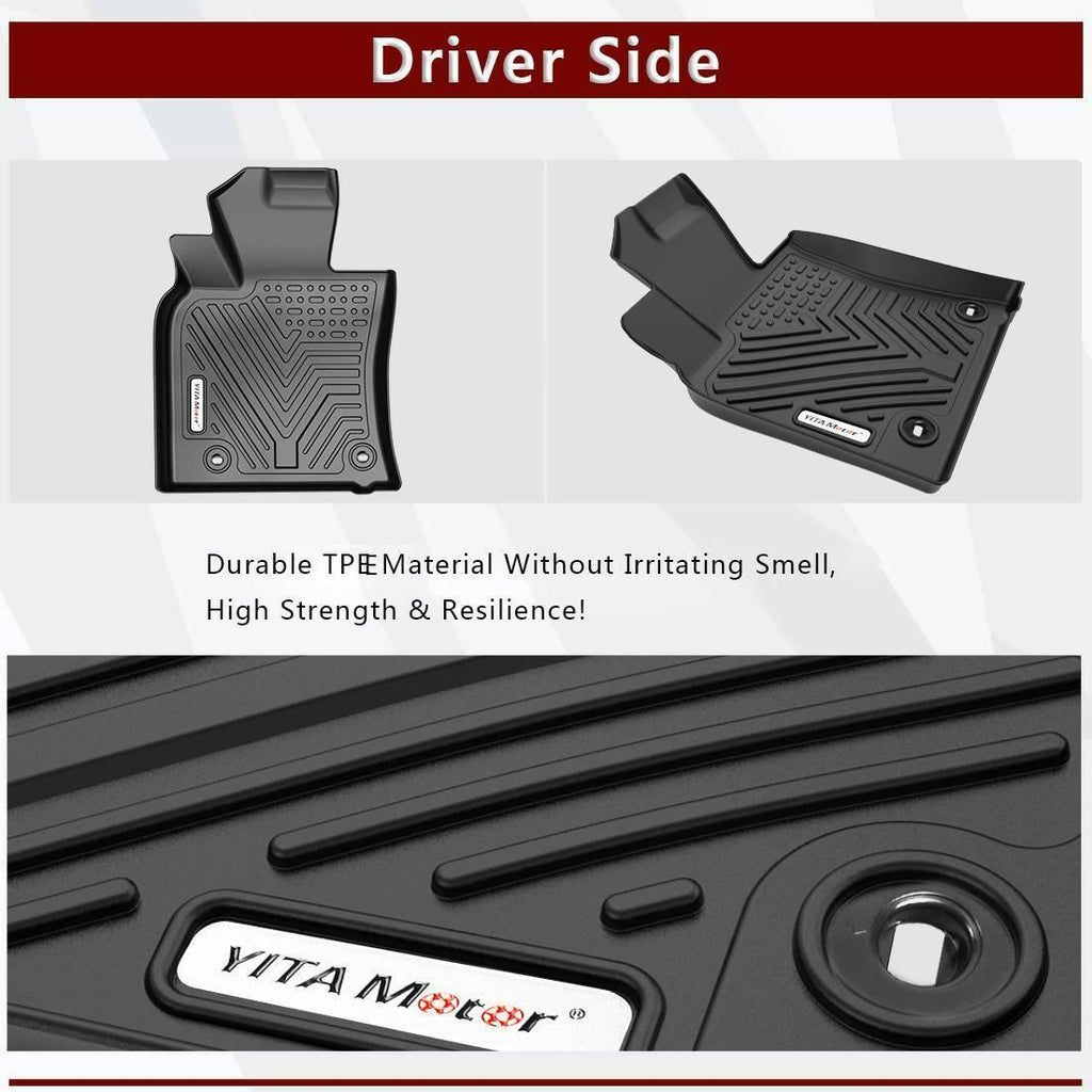 YITAMOTOR Floor Mats For 2018-2021 Toyota Camry, Excludes Hybrid Models, Custom Fit Floor Liners 1st & 2nd Row All-Weather Protection, Black