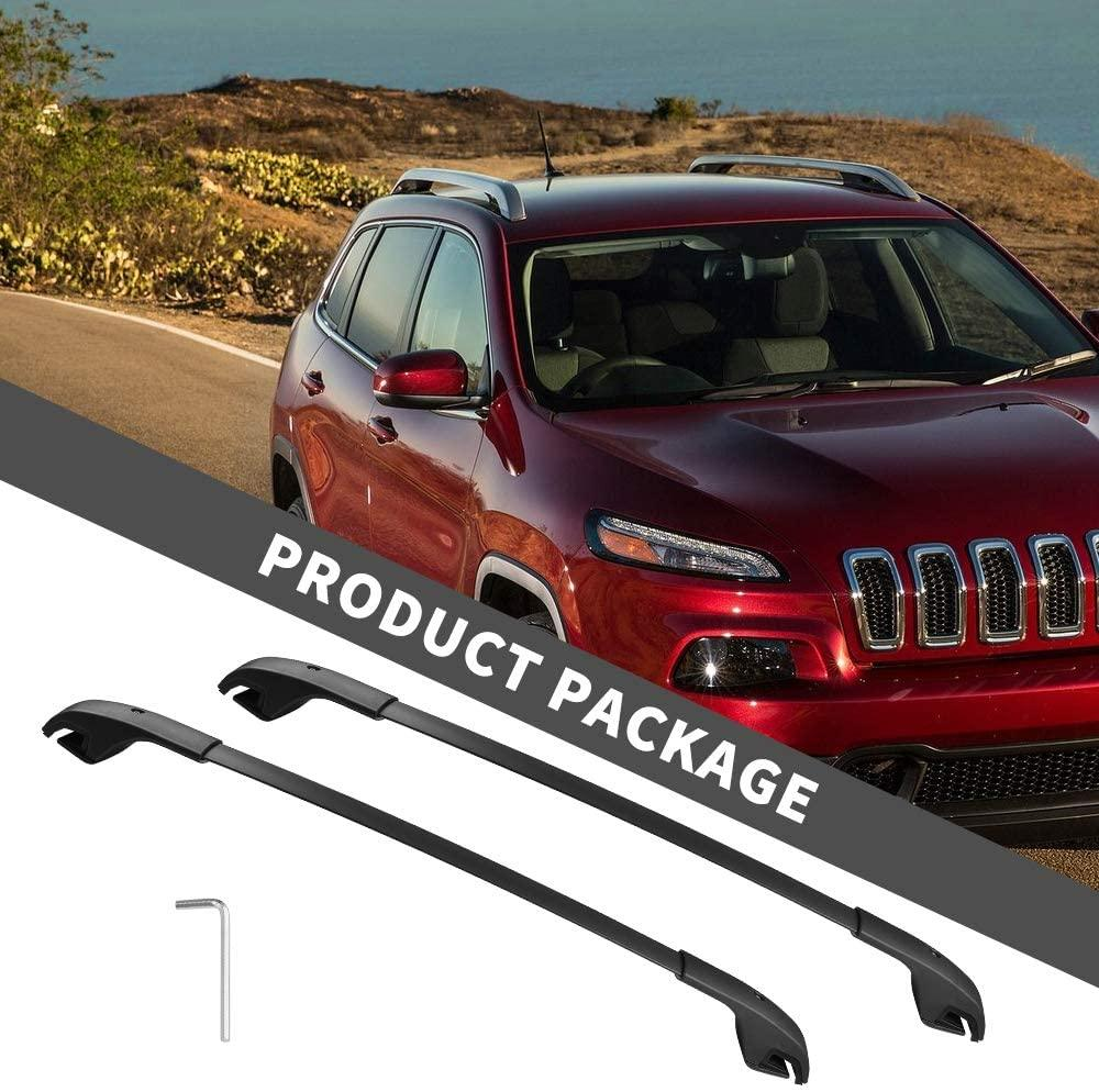Roof Rack Cross Bars For 2014-2021 Jeep Cherokee, Aero Crossbars Rooftop Luggage Cargo Bag Kayak Canoe Bike Carrier