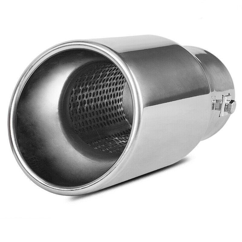 YITAMOTOR 2.0 2.25 2.5 Inch Inlet Exhaust Tip, Chrome Polished Stainless Steel Exhaust Tip, Bolt On Design - YITAMotor