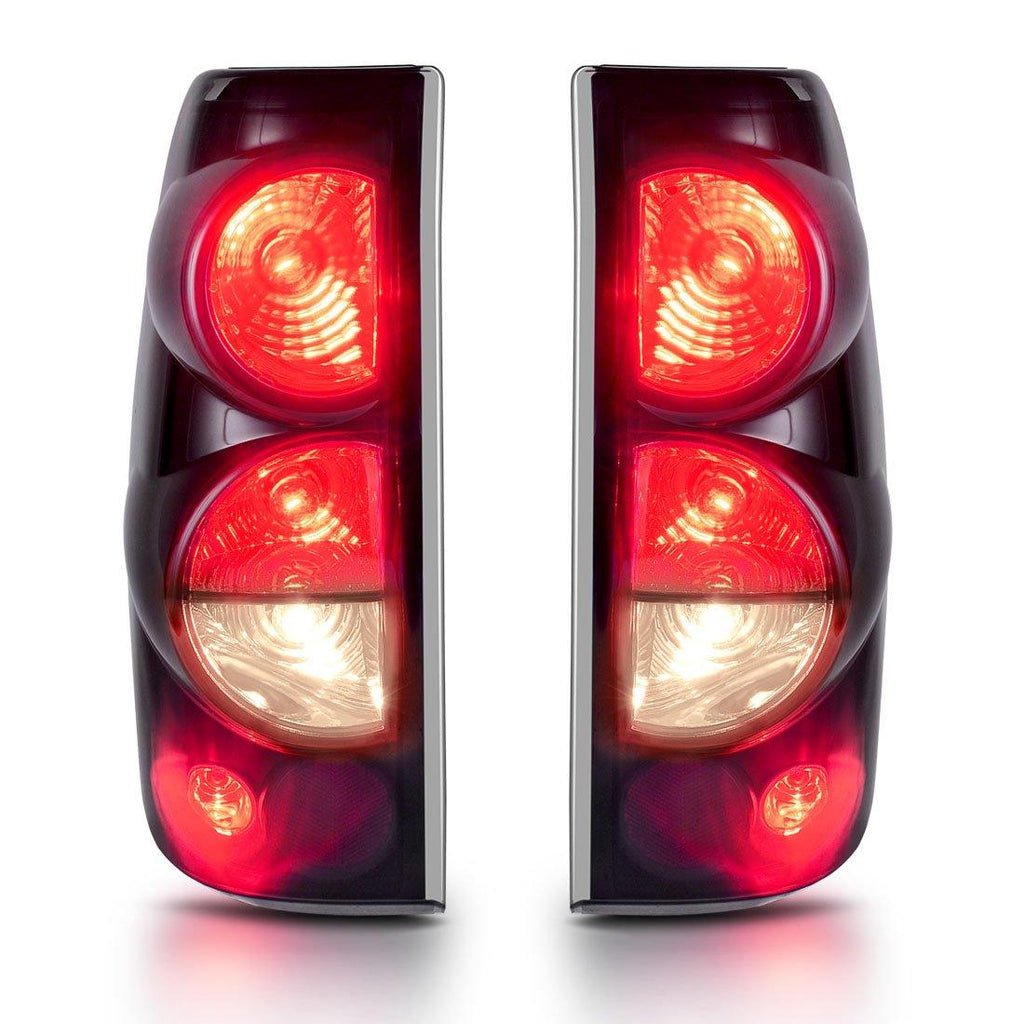For 1999-2007 Chevy Silverado 1500 2500 3500 And 1999-2002 GMC Sierra 1500 2500 3500 Tail lights Black Smoke Rear Lamps - YITAMotor