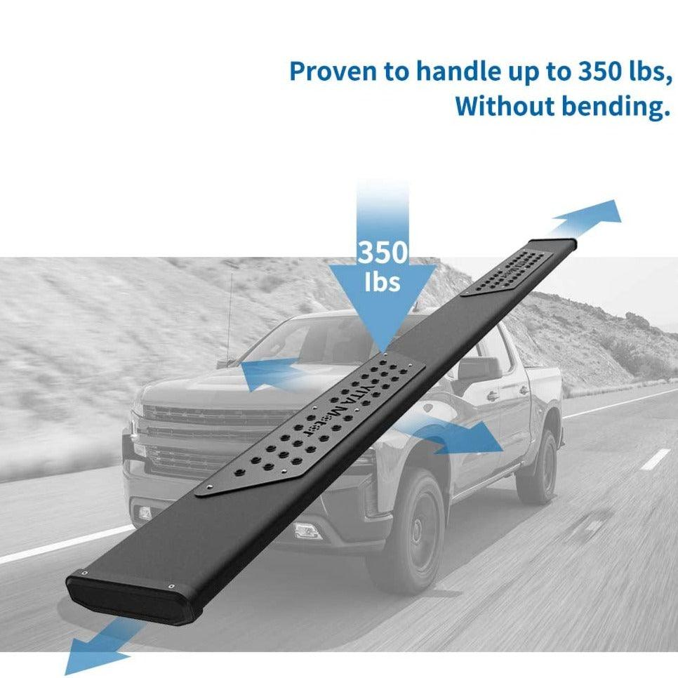 "6"" Running Boards For 07-18 Silverado/GMC Sierra 1500 & 2500HD 3500HD Crew Cab;19 Silverado/Sierra 2500HD 3500HD Side Step Nerf Bar (Gas Engine ONLY)"