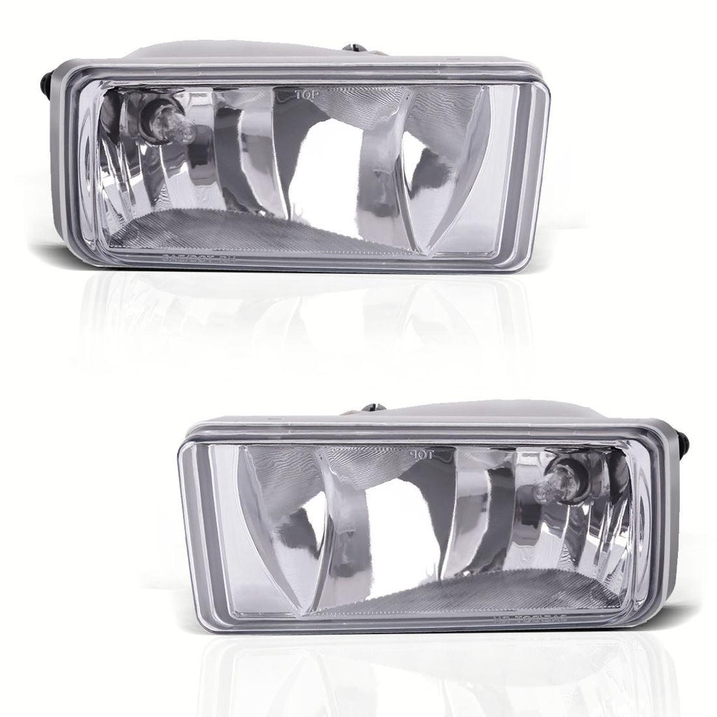 Pair Clear Bumper Fog Light Lamps for 07-13 Chevy Silverado 1500 2500 HD Tahoe - YITAMotor