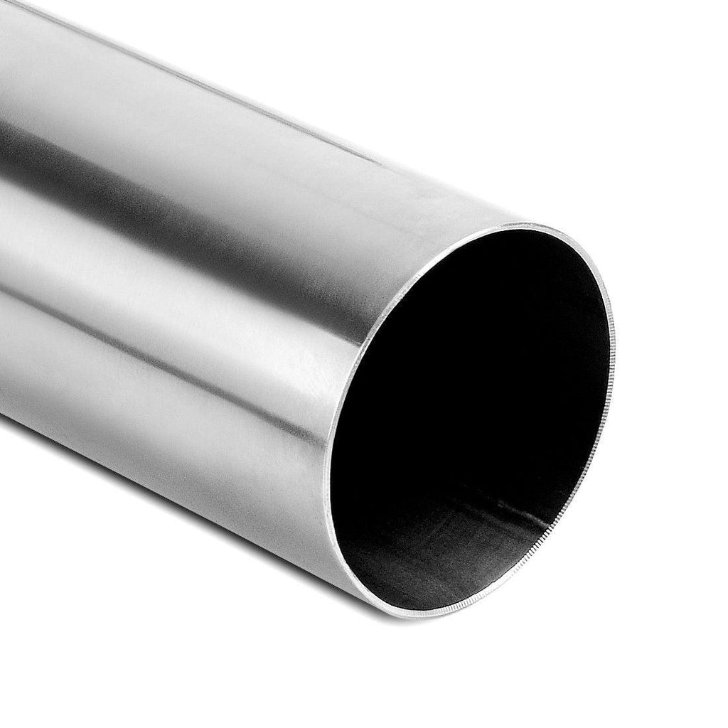 Exhaust Tip Curved Tubing 2.5 Inch Inletx2.5 Inch Outletx24 Inch(2 Feet)Long Stainless Steel Chrome Polished Tailpipe Welded 90 Degree Bending Pipe - YITAMotor