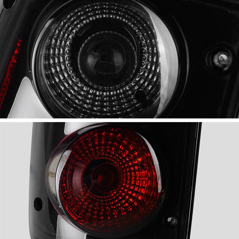 Black Tail Lights & Rear Lamps for 1989-1995 Toyota Pickup - YITAMotor