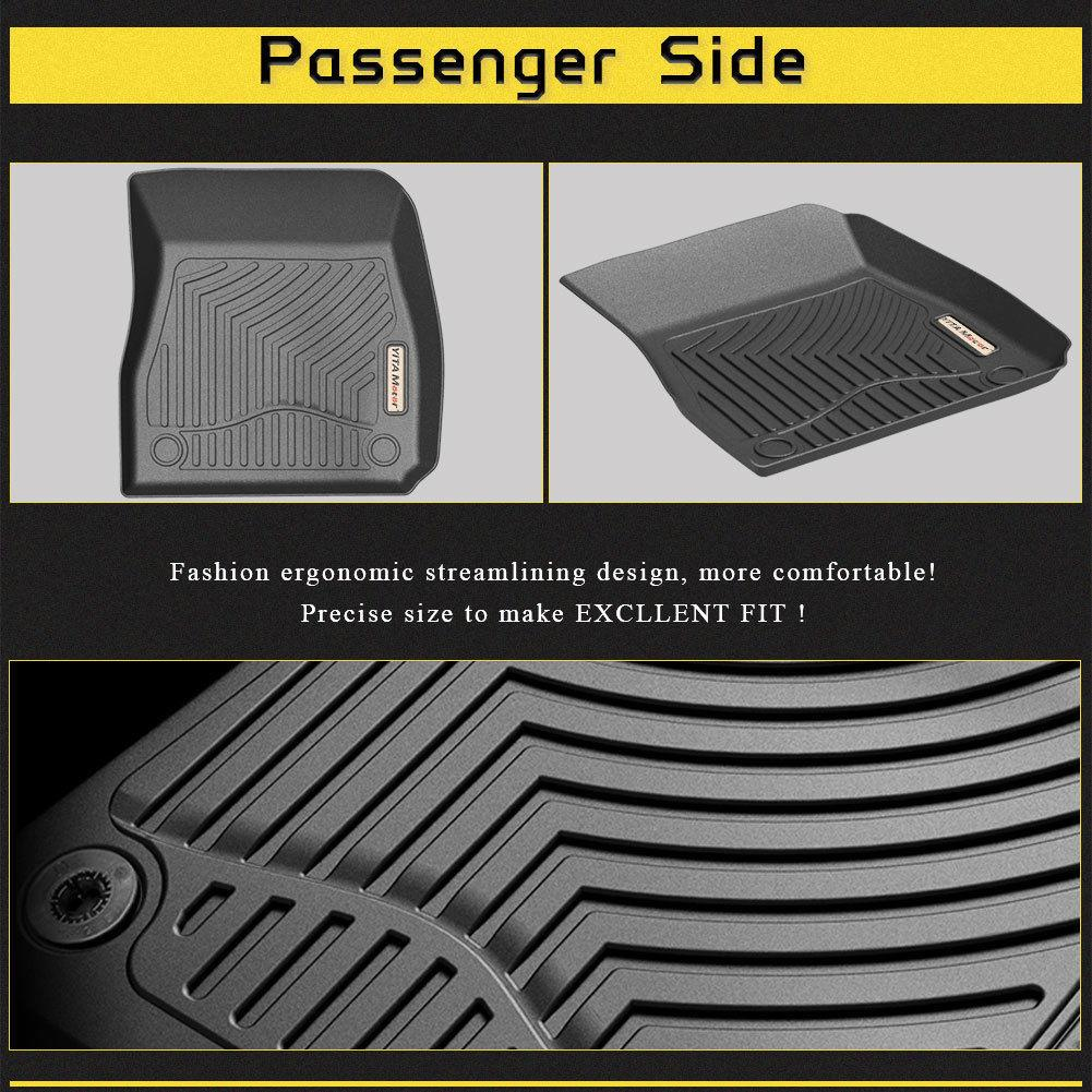 Fits CHEVY MALIBU ALL WEATHER BLACK RUBBER FLOOR MATS