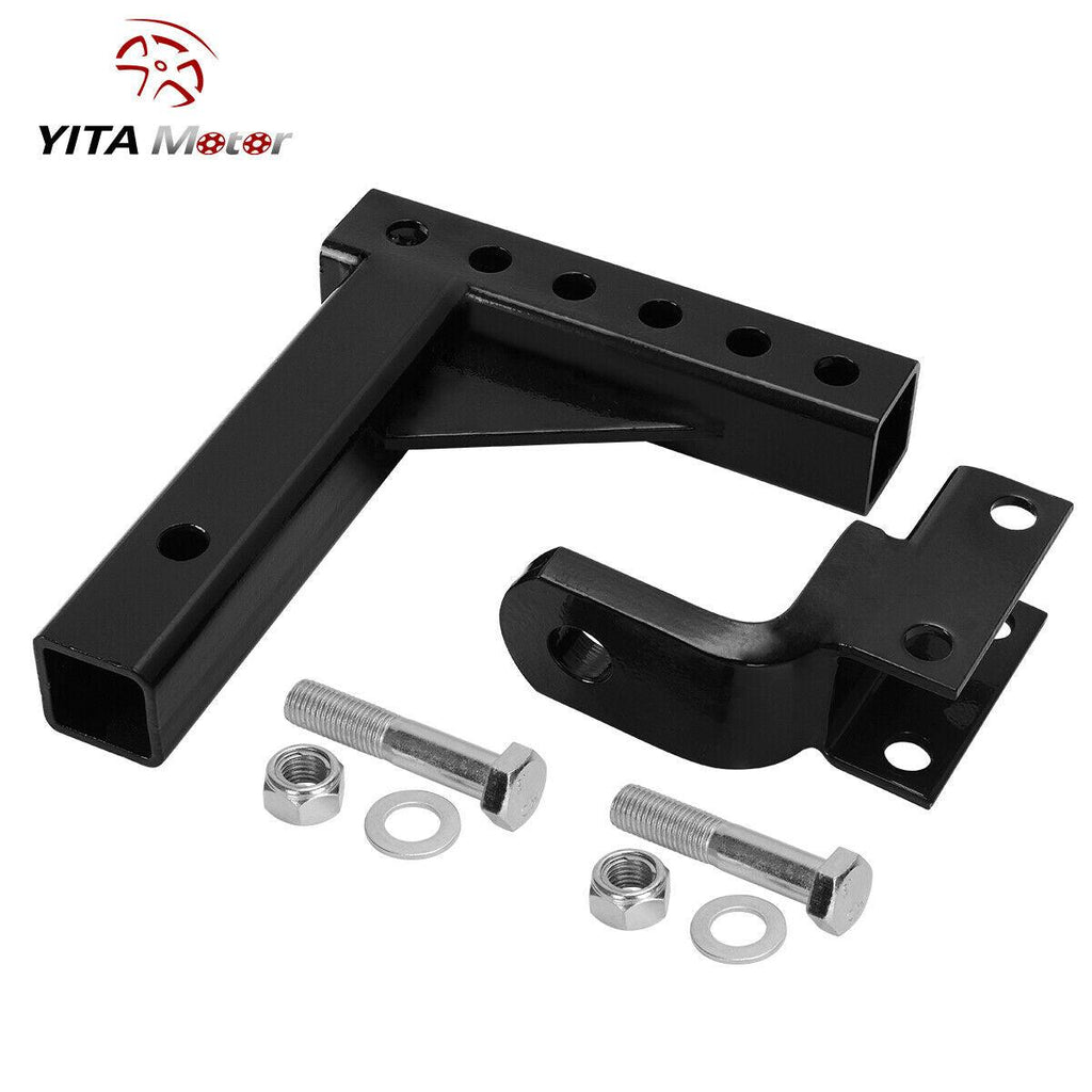 "YITAMOTOR 10"" Adjustable Ball Mount Trailer Drop Hitch Tow 2"" Receiver Truck - YITAMotor"