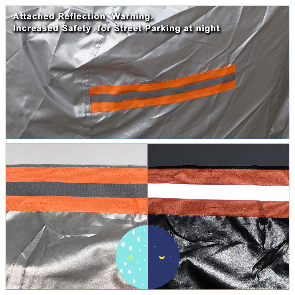 Fit up to 40 inches for Ford Mustang Full Car Cover Waterproof Breathable  Outdoor Universal