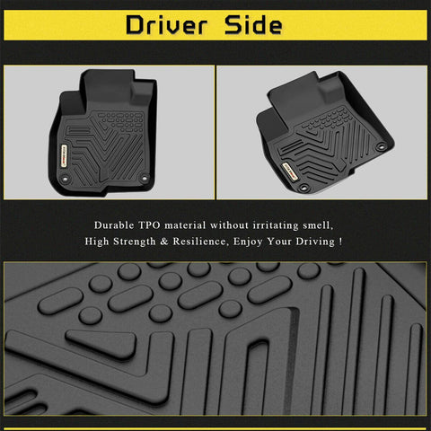 Floor Mats Floor Liner for 2017 2018 2019 2020 Honda CR-V 1st 2nd Row All Weather Protection - YITAMotor