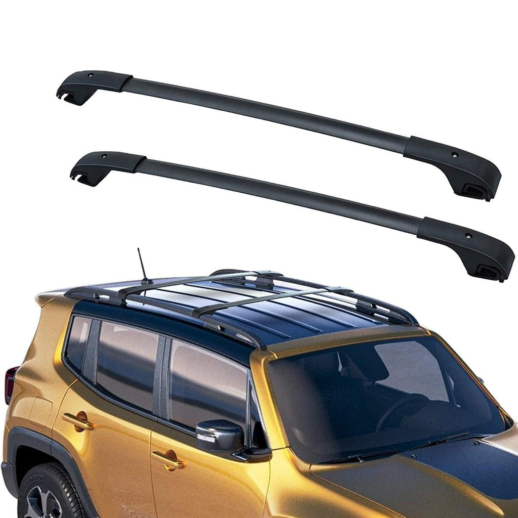 Cross Bars Roof Racks for 2015-2021 Jeep Renegade, Aluminum Luggage Crossbars Cargo Rooftop Bag Carrier Carrying Bike Kayak Canoe