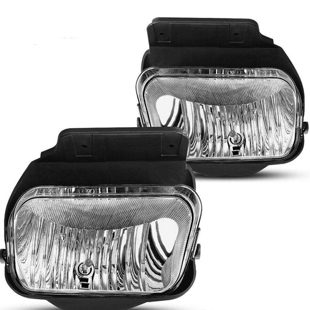 Fog Lights For Chevy Silverado 2003-2007 All Models Avalanche 2002 2003 2004 2005 2006 Without Body Cladding (OE Style Clear Lens w/Blubs)