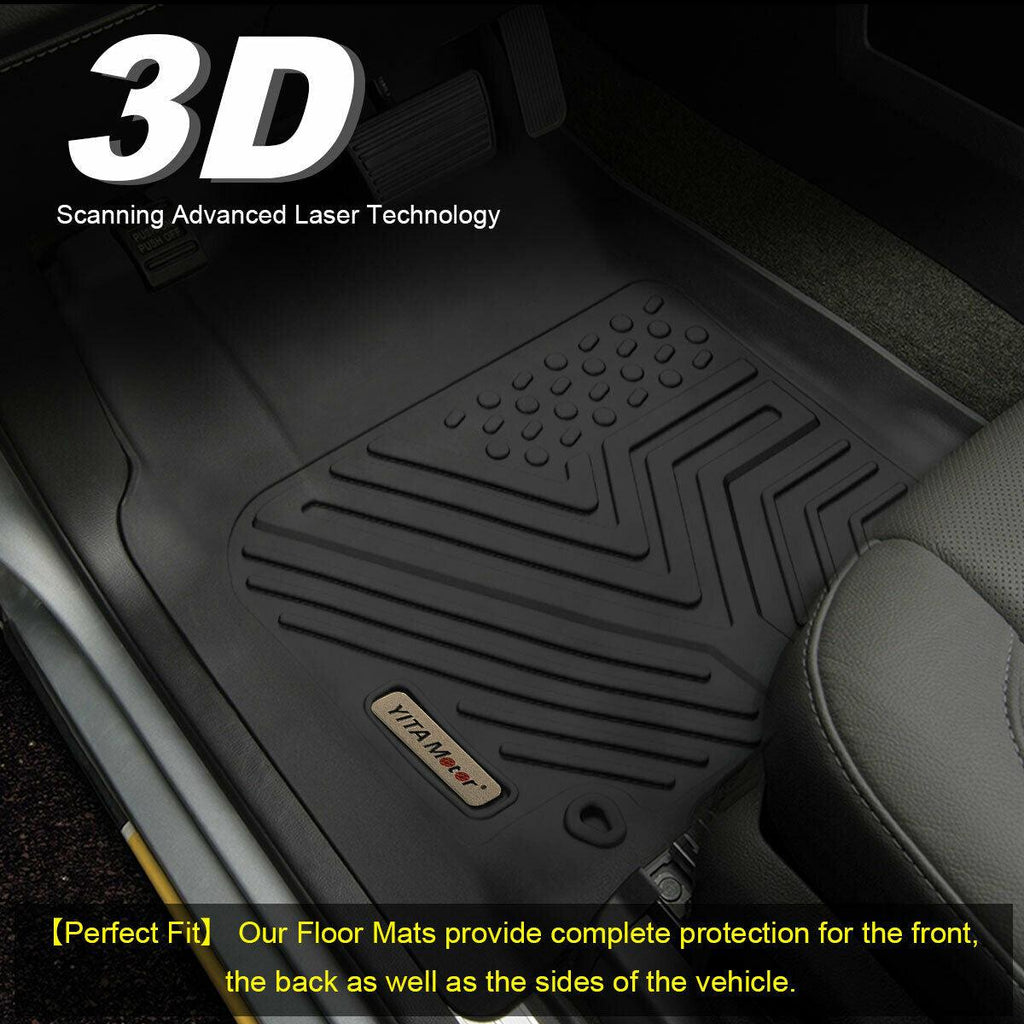 Floor Mats for 2019 Ram 1500 Classic Crew Cab 2012-2018 Dodge Ram 1500 2500 3500 Crew Cab 1st and 2nd Row All Weather Protection