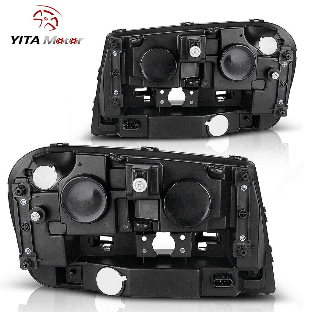 YITAMOTOR For 2002-2009 Chevy Trailblazer Headlights Headlamps Assembly + Fog Lights