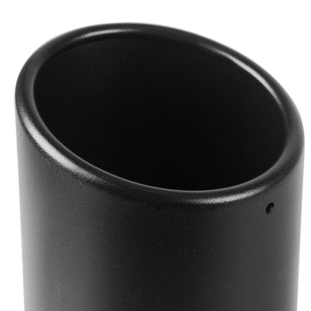 3 Inch Inlet Black Exhaust Tip, 3 x 4.5 x 9 Black Paint Finish Stainless Steel Material Exhaust Tip, Bolt-On Installation Design - YITAMotor