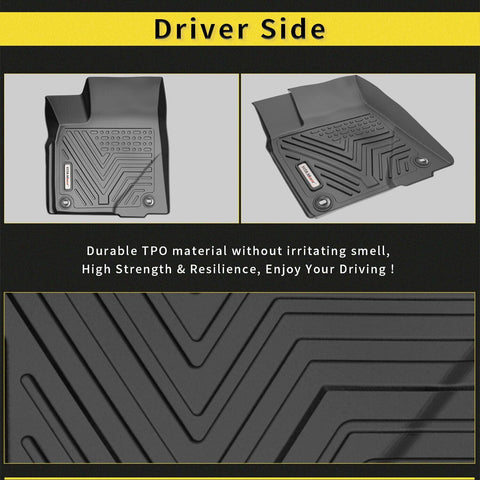 YITAMOTOR Floor Mats For Highlander, Custom Fit Floor Liners for 2014-2019 Toyota Highlander, 1st & 2nd Row All Weather Protection - YITAMotor