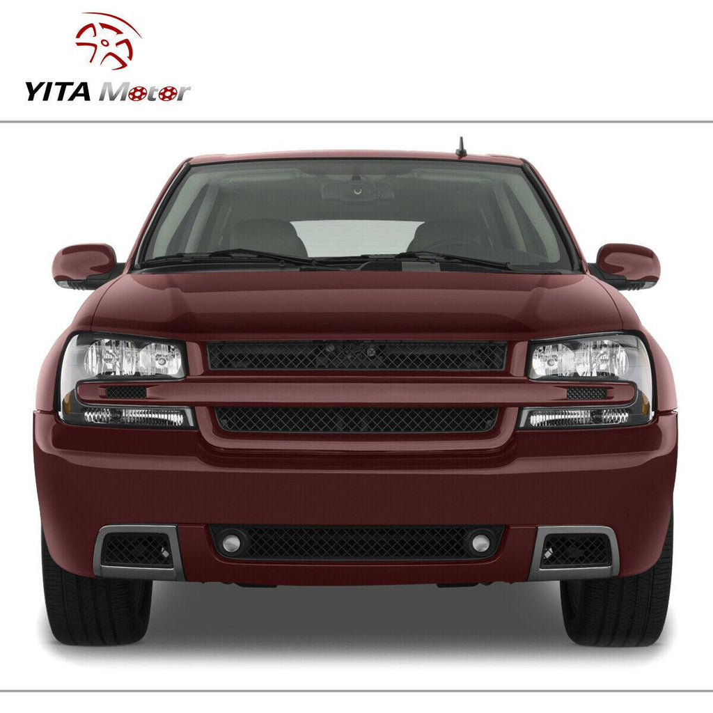 YITAMOTOR For Chevy Trailblazer 2002-2009 Amber Corner Headlights + Fog Lights - YITAMotor