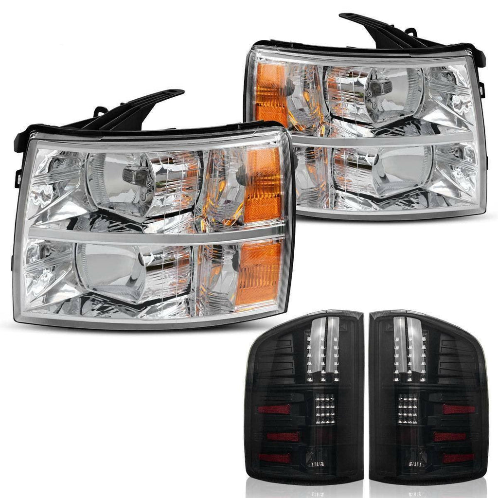 YITAMOTOR Headlights+Tail Lights Assembly Replace for 2007-2014 Chevy Silverado - YITAMotor