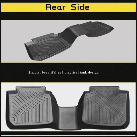 Floor Mats Floor Liners for 2015-2019 Subaru Legacy/Outback, 1st & 2nd Row All Weather Protection - YITAMotor