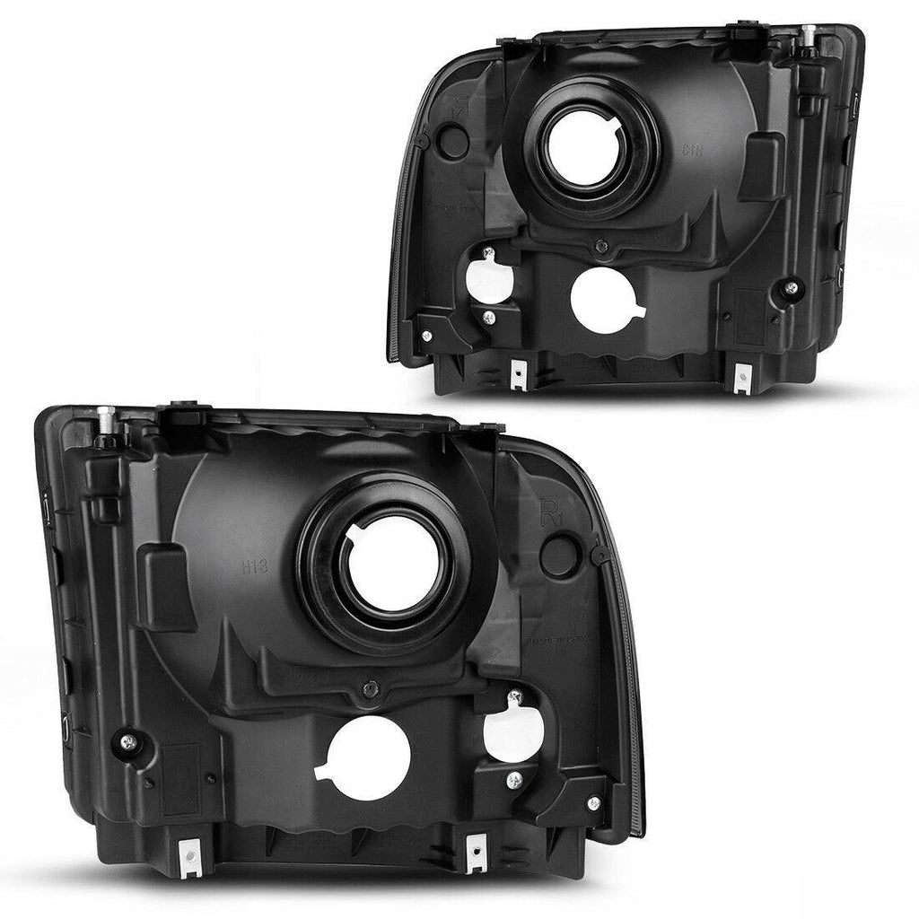 Pair Black Headlights For 05-07 F350 F450 F550 Super duty/ 05 Ford Excursion Headlight Assembly,OE Projector Headlamp,Black Housing Clear Lens - YITAMotor