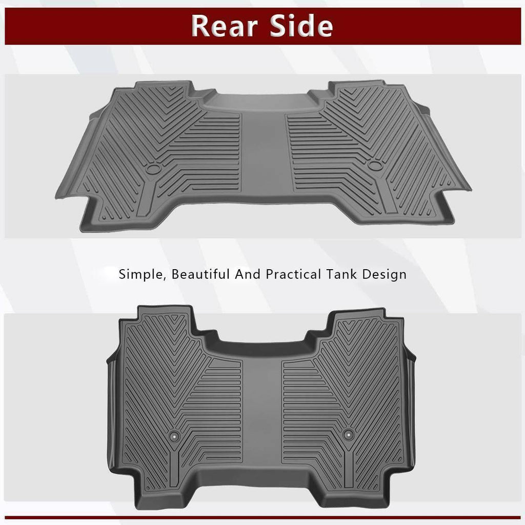 For 2019 2020 2021 Dodge Ram 1500 Crew Cab Floor Mats Liner Rubber Front Rear Kit