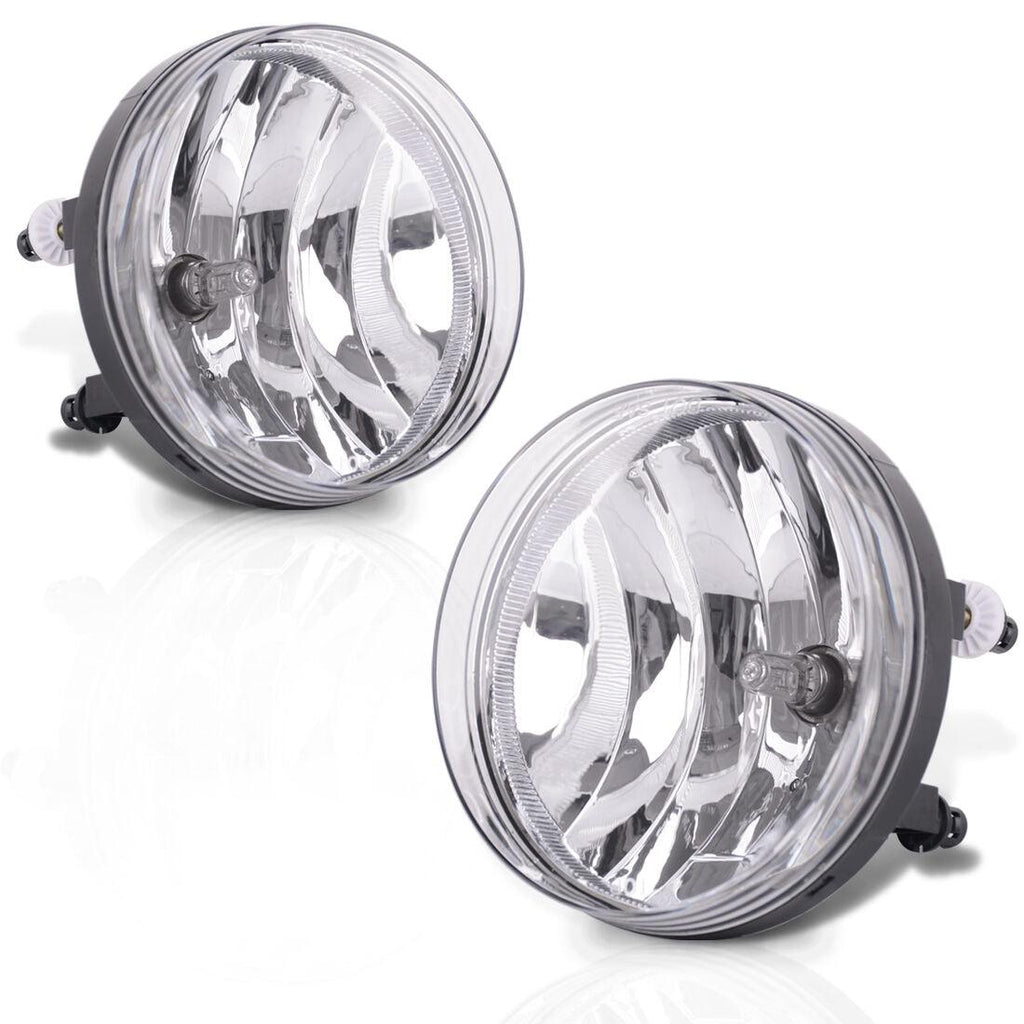 Fog Lights Replacemnt for 2007-2013 GMC Sierra 1500 2007-2014 GMC Sierra 2500 3500HD Fog Lamps with Smoke Lens H8 12V 35W Halogen Bulbs Universal Switch and Wiring Kit 25831948 GM2593161