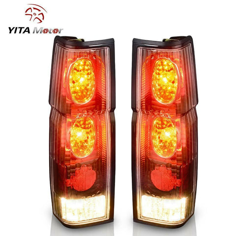 For 1986-1997 Nissan Hardbody D21 Pickup Tail Lights Clear Rear Lamp Replacement - YITAMotor