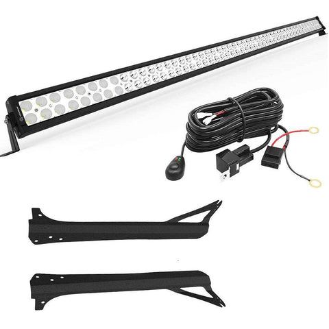 1997-2006 Jeep Wrangler TJ 52 inches LED Light Bar with Mounting Brackets and Switch Wiring Harness