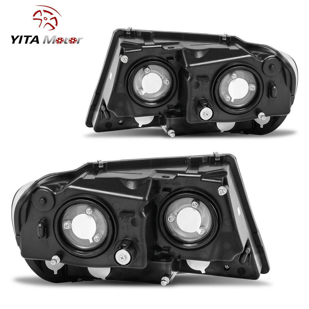 YITAMOTOR Black For 1999-2003 Jeep Grand Cherokee Amber Corner Headlight + Fog Lamp - YITAMotor