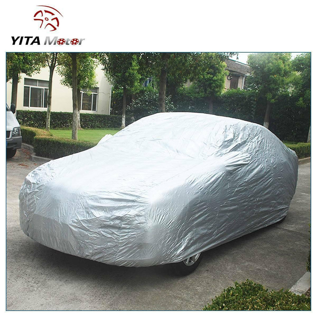 YITAMOTOR Full Car Cover Waterproof Outdoor Breathable for Car All Weather Protection US - YITAMotor