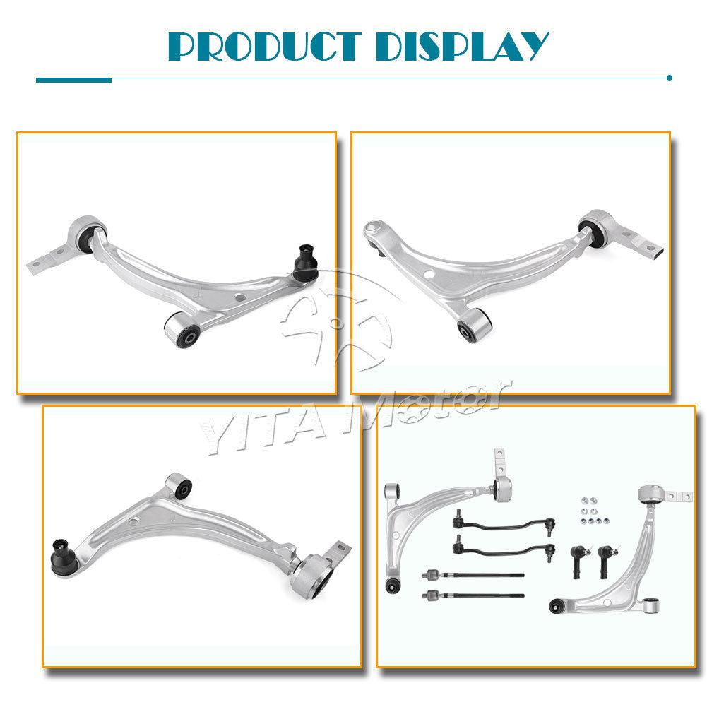 For 2002 2003 2004 2005 2006 Altima Control Arm Tierod Sway Bar Ball Joint Kit - YITAMotor