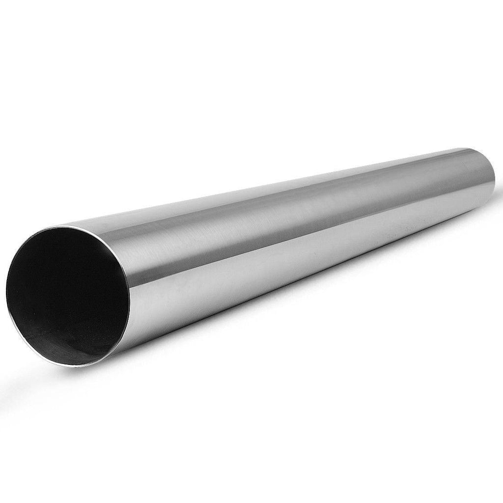 "OD 2.5"" Inlet - 2.5"" Outlet 5' Feet Stainless Steel Exhaust Pipe Tubing Straight"