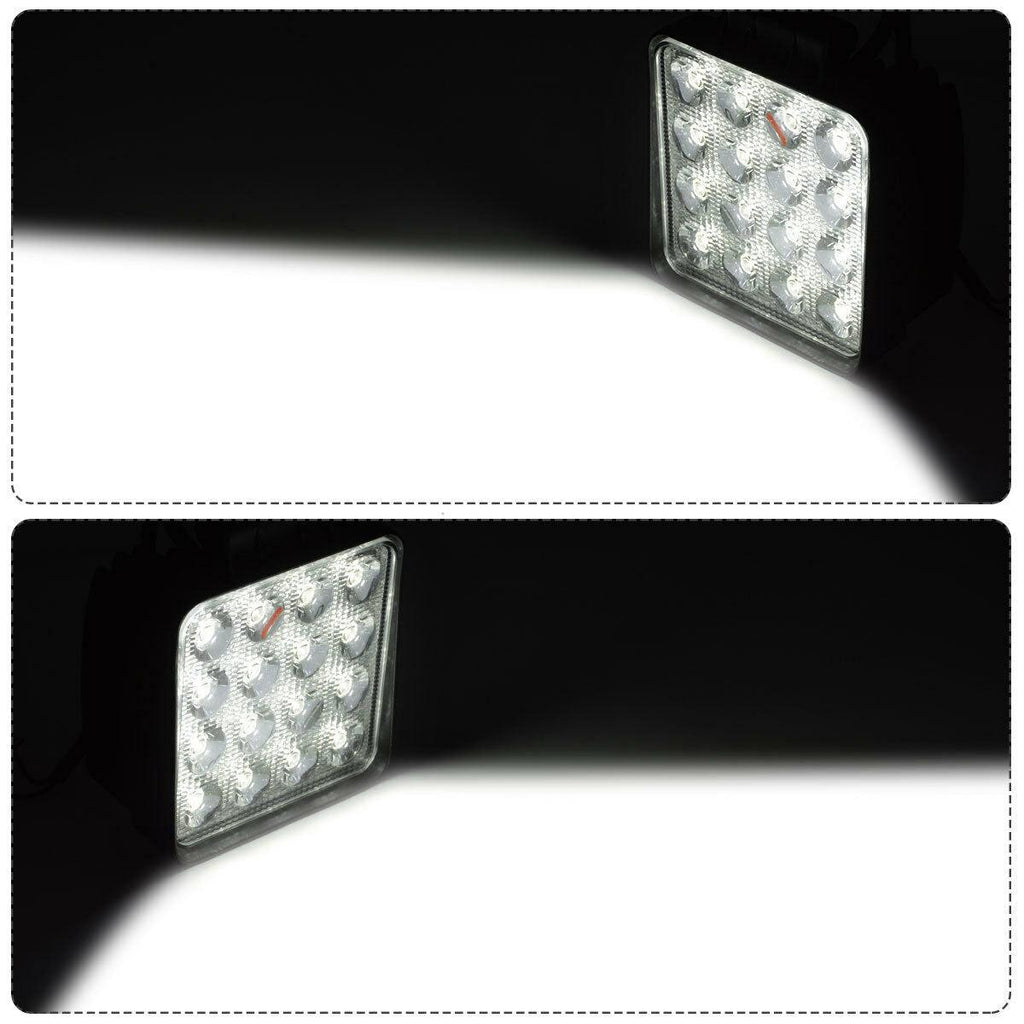 LED Light Bar 2Pcs 4inch 48W Square LED Pod Flood Light Off Road Light Fog Light Truck Light Driving Light Boat Light Pickup SUV ATV UTV Waterproof - YITAMotor