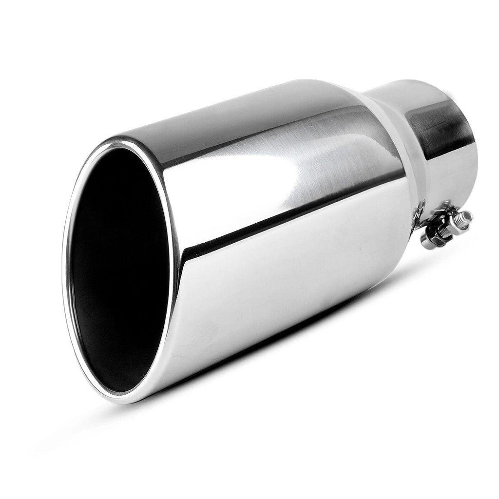 """18/""""Long 4/""""Inlet Exhaust Tip Stainless Steel 6/""""Outlet Polished Diesel Bolt On"""