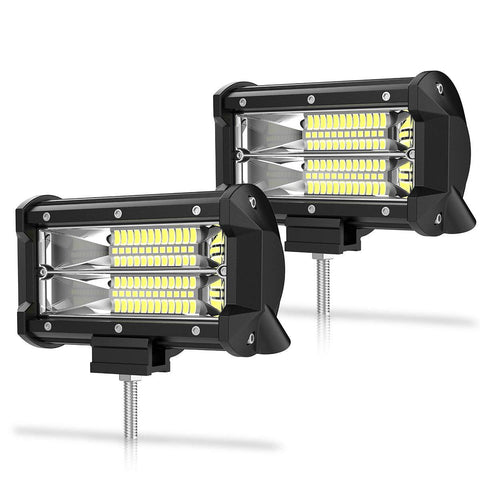 5 Inch 72W Flood LED Work Lights - YITAMotor