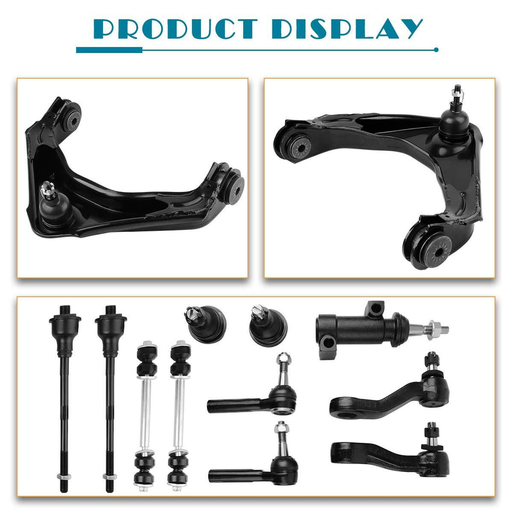 Front Control Arm Kit for 00-12 Chevrolet Avalanche/Silverado/Suburban,00-12 Gmc sierra yukon Xl, 03-09 Hummer h2-13 Pieces(Fit 8-Lug Models Only) - YITAMotor