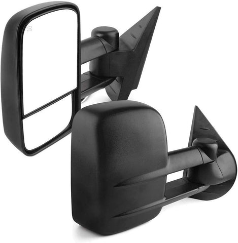 For 07-14 Chevy Silverado GMC Sierra 1500/2500/3500 Pair Set Power Heated YITAMOTOR Towing Mirrors