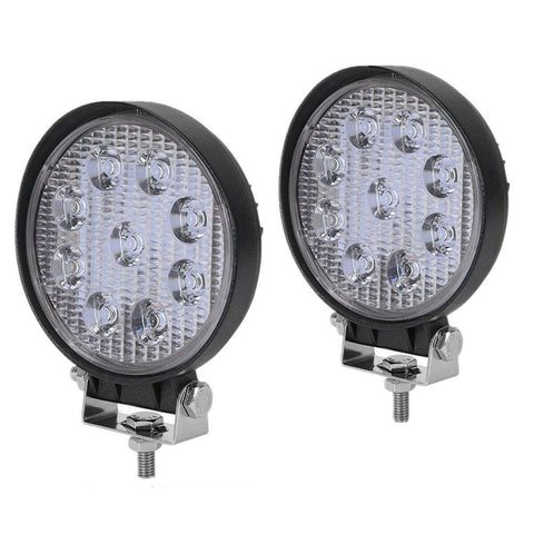YITAMOTOR 2PCS 4Inch 27W Round LED Work Light Pod Lights Spot Light Off Road Driving Light Fog Light Waterproof Truck Car ATV SUV Boat 4WD ATV 12V