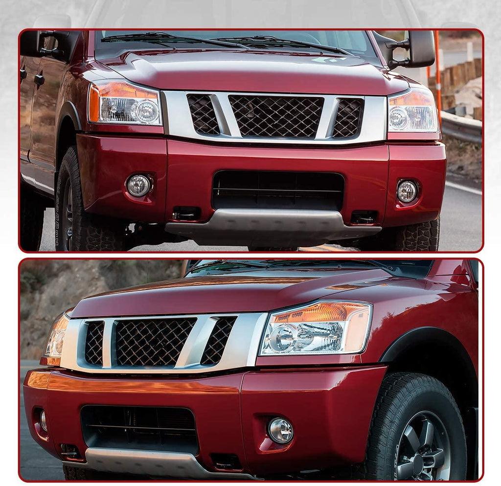 Molding Trim Bumper Filler Retainer Headlamp Headlight Replacement For 622357S300 For 2004-2015 Nissan Armada Titan QX56 Front Left Driver Side