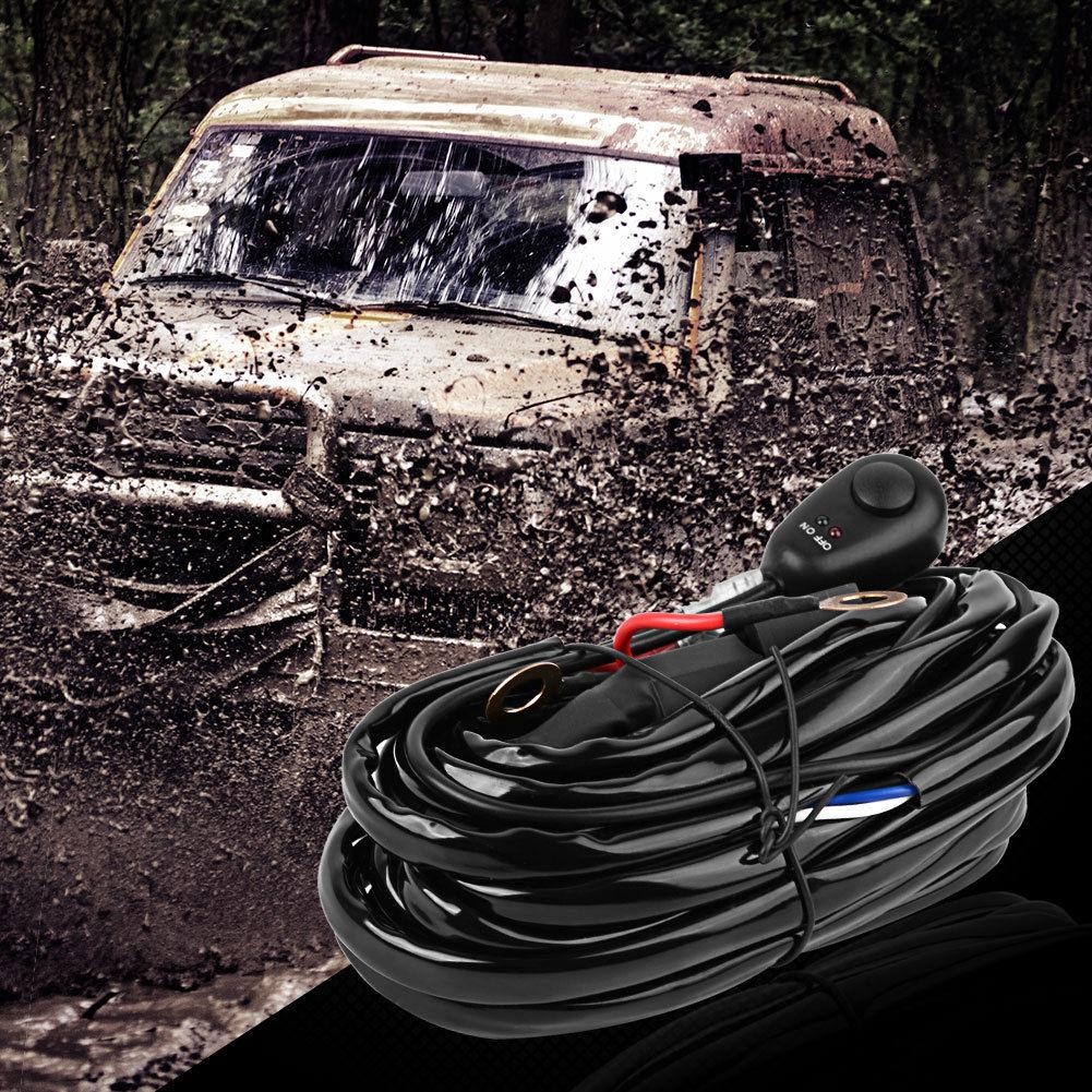 40A 12V 8ft Offroad Driving 120W Light Bar Wiring Harness Relay ON/OFF Switch - YITAMotor