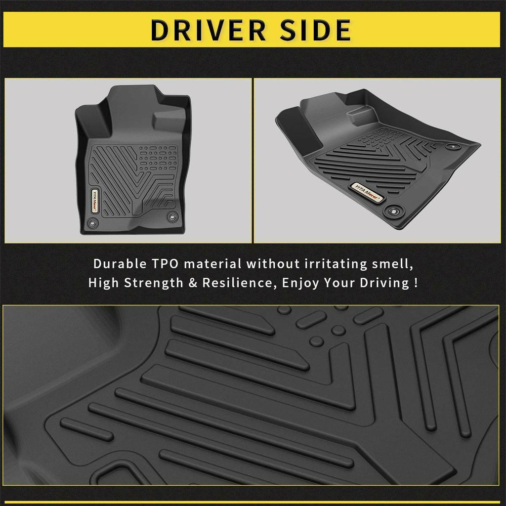 Custom Fit Floor Liners for 2016-2020 Honda Civic Sedan/Hatchback or Type R, Floor Mats 1st & 2nd Row All Weather Protection