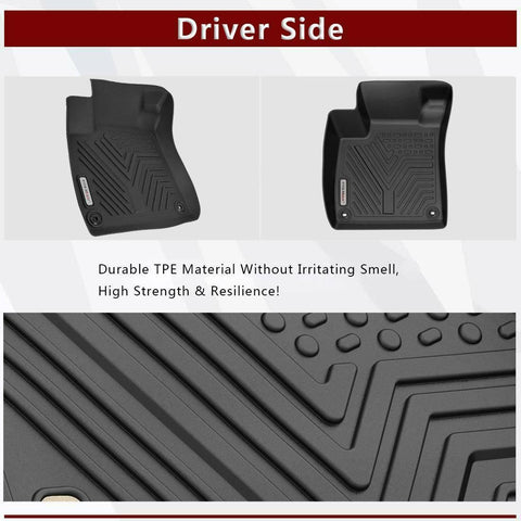 Custom Fit Floor Liners for 2018-2020 Honda Accord, Floor Mats 1st & 2nd Row All Weather Protection - YITAMotor