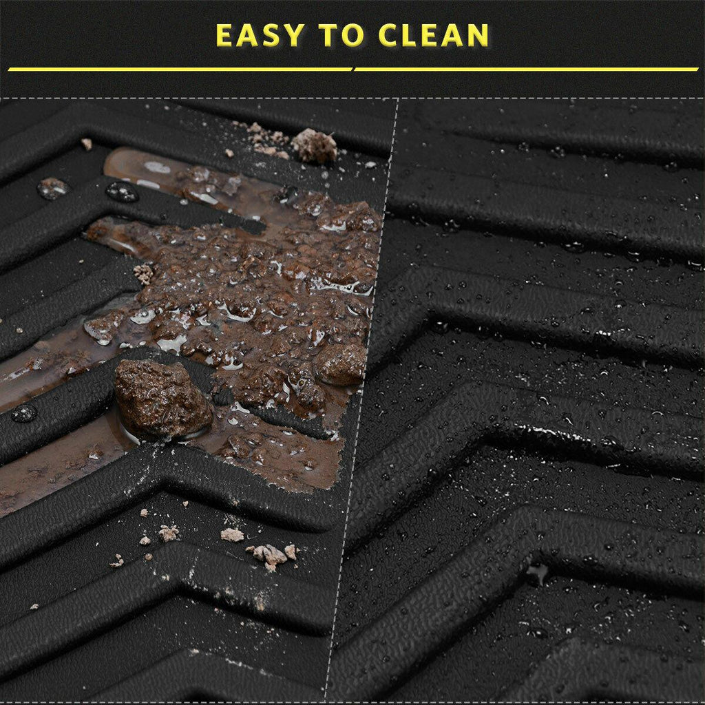 YITAMOTOR All Weather Floor Mats Compatible with 2015 2016 2017 2018 2019 2020 Jeep Cherokee Black Rubber 3pcs Set Floor Liners - YITAMotor