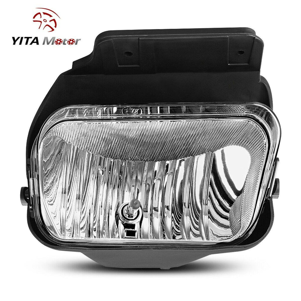 Clear Lens Driving Fog Lights Lamps Replacement for Chevy Silverado 2003 2004 2005 2006 2007 All Models Avalanche 2002-2006 Without Body Cladding H10 12V 42W Halogen Bulbs