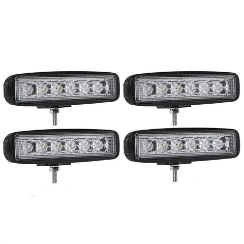 "4pcs 6Inch 72W LED Work Light Bar Spot Offroad ATV Fog Truck Lamp 4WD 12V 6"" - YITAMotor"