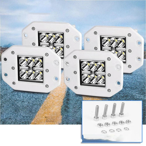 4x 5inch 24W Flush Mount Bumper Reverse Led Light Pods For Ford F150/250/350 - YITAMotor