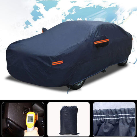 Full Waterproof Non-Abrasive Lining Car Cover - YITAMotor